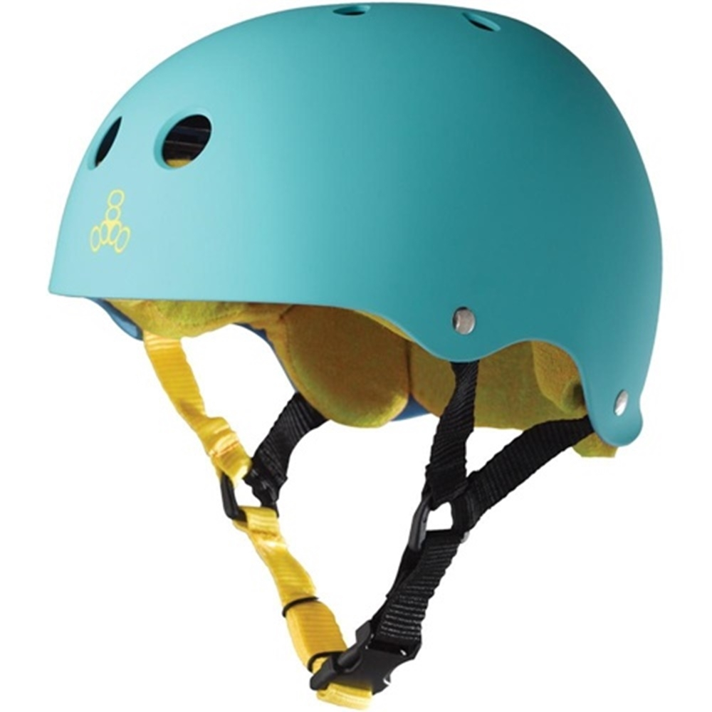 Шлем Triple Eight Brainsaver Helmet with Sweatsaver Liner baja teal rubber — <Фото №7>