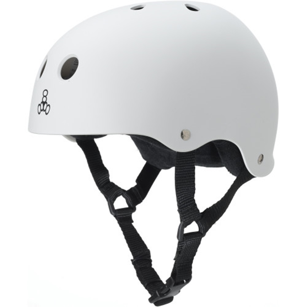 Шлем для роликов мужской Triple Eight Brainsaver Helmet with Sweatsaver Liner white rubber — <Фото №5>