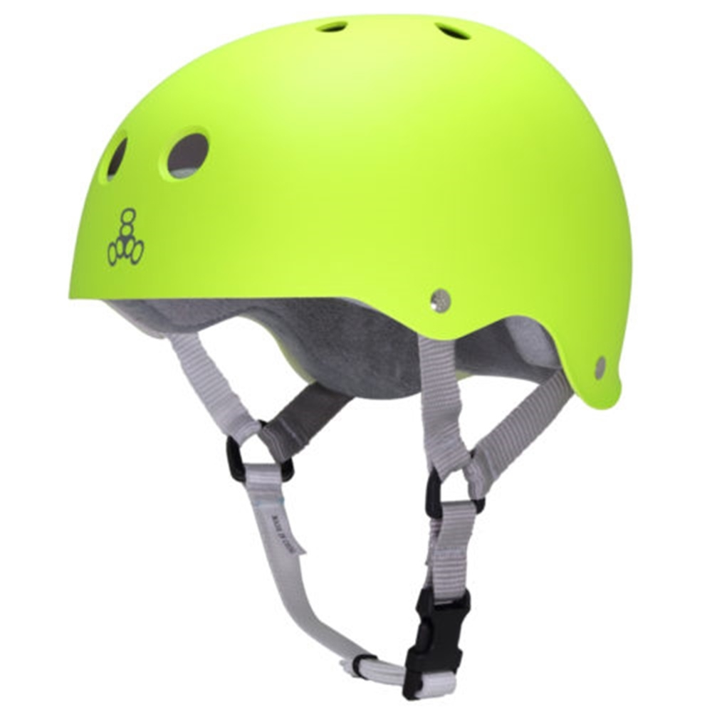 Шлем для роликов Triple Eight Brainsaver Helmet with Sweatsaver Liner neon zest rubber — <Фото №3>